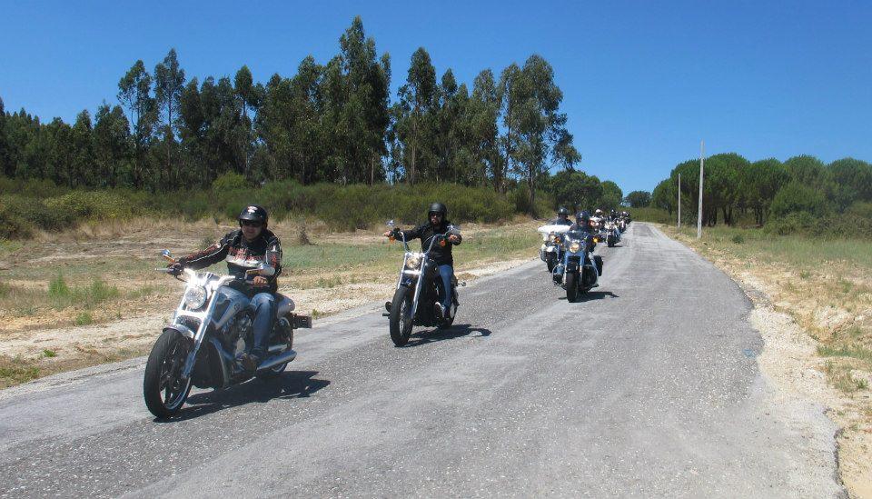 une partie des 30 motos