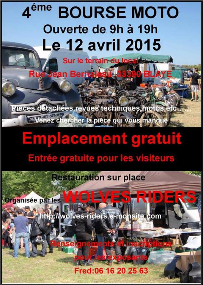 4 eme bourse moto 12 avril 2015 wolves riders 33 blaye