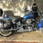 Harley-Davidson Heritage Softail Classic 1340 cm3 USA année 1995.