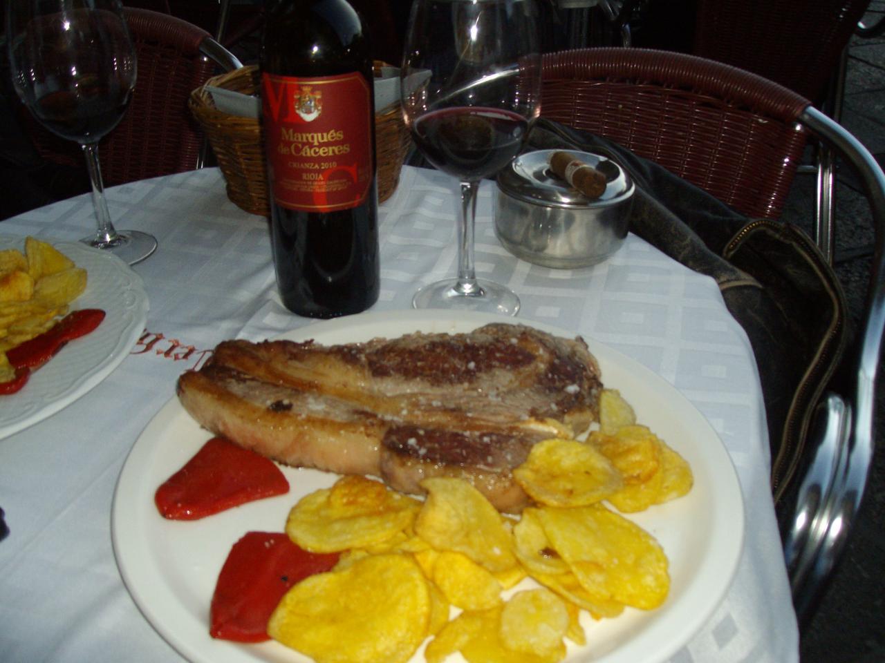 Cote de boeuf a SALAMANCA et vino MARQUEZ DE CASERES