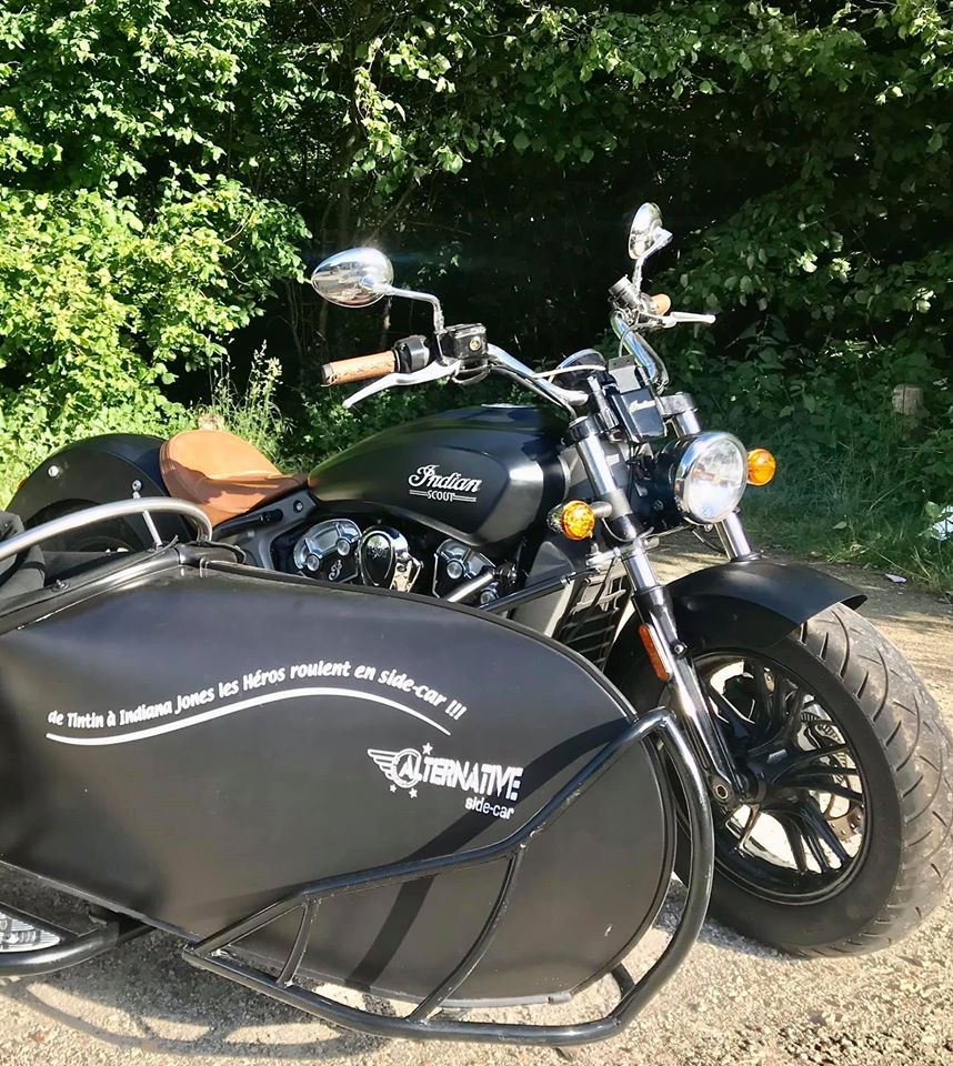 Indian motorcycle avec side car