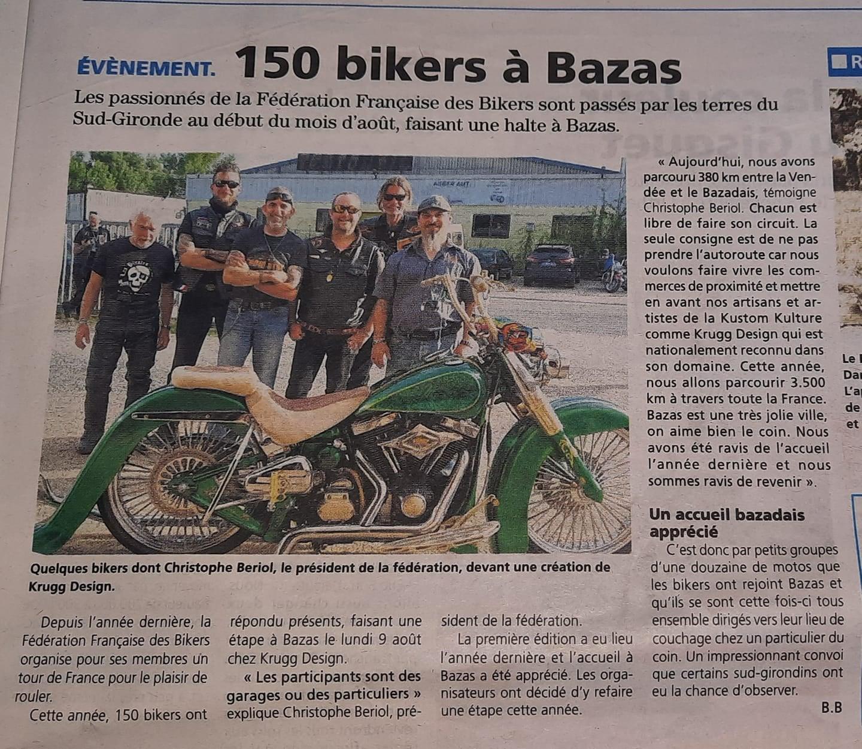 150 bikers a bazas