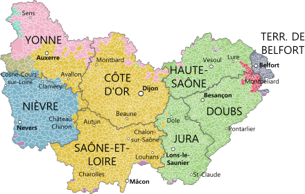 Bourgogne franche comte et provinces