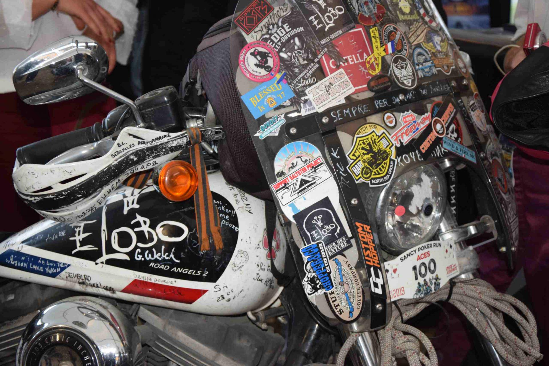 La moto d'Eric LOBO.