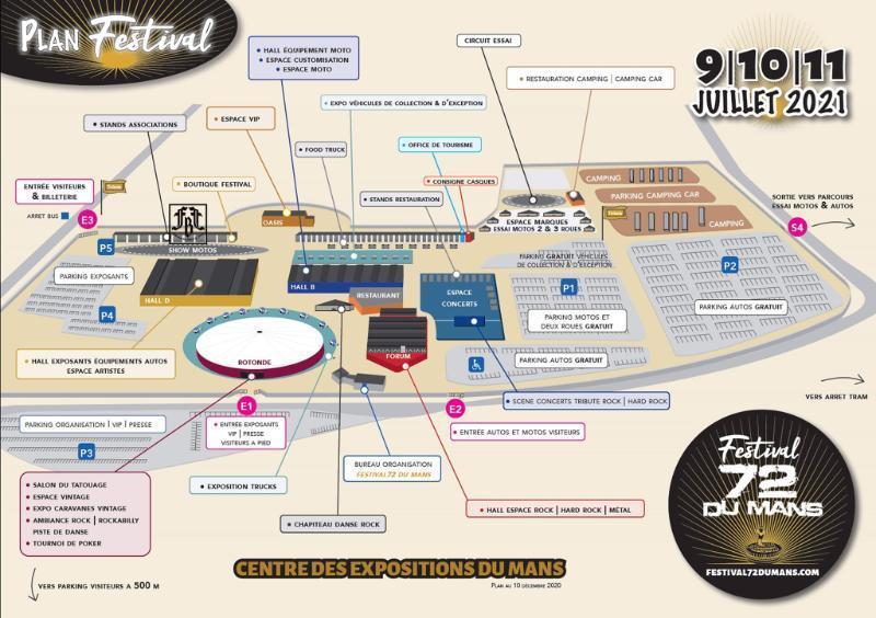 Festival 72 du mans plan
