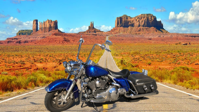 Photo Francois son Roadking Classic 2004 - Monument Valley - Arizona - USA