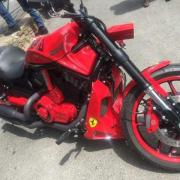 Harley davidson night rode ferrari