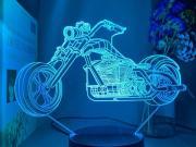 Lampe 3d moto harley davidson