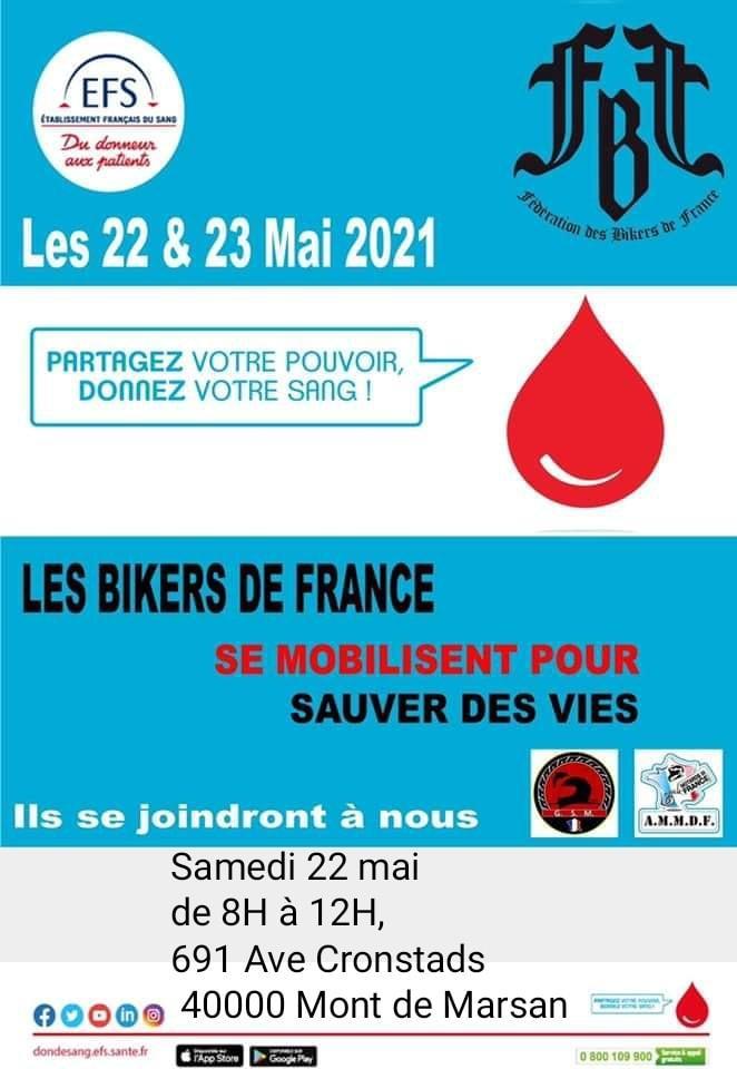Les bikers donnent leur sang 4a mont de marsan 40
