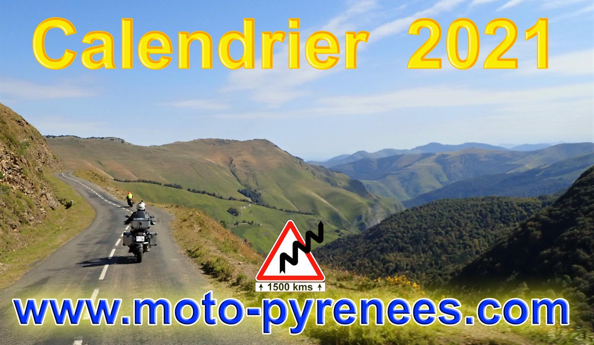 Course Camarguaise Calendrier 2021 des balades en moto Moto Pyrénées : Calendrier Route 2021