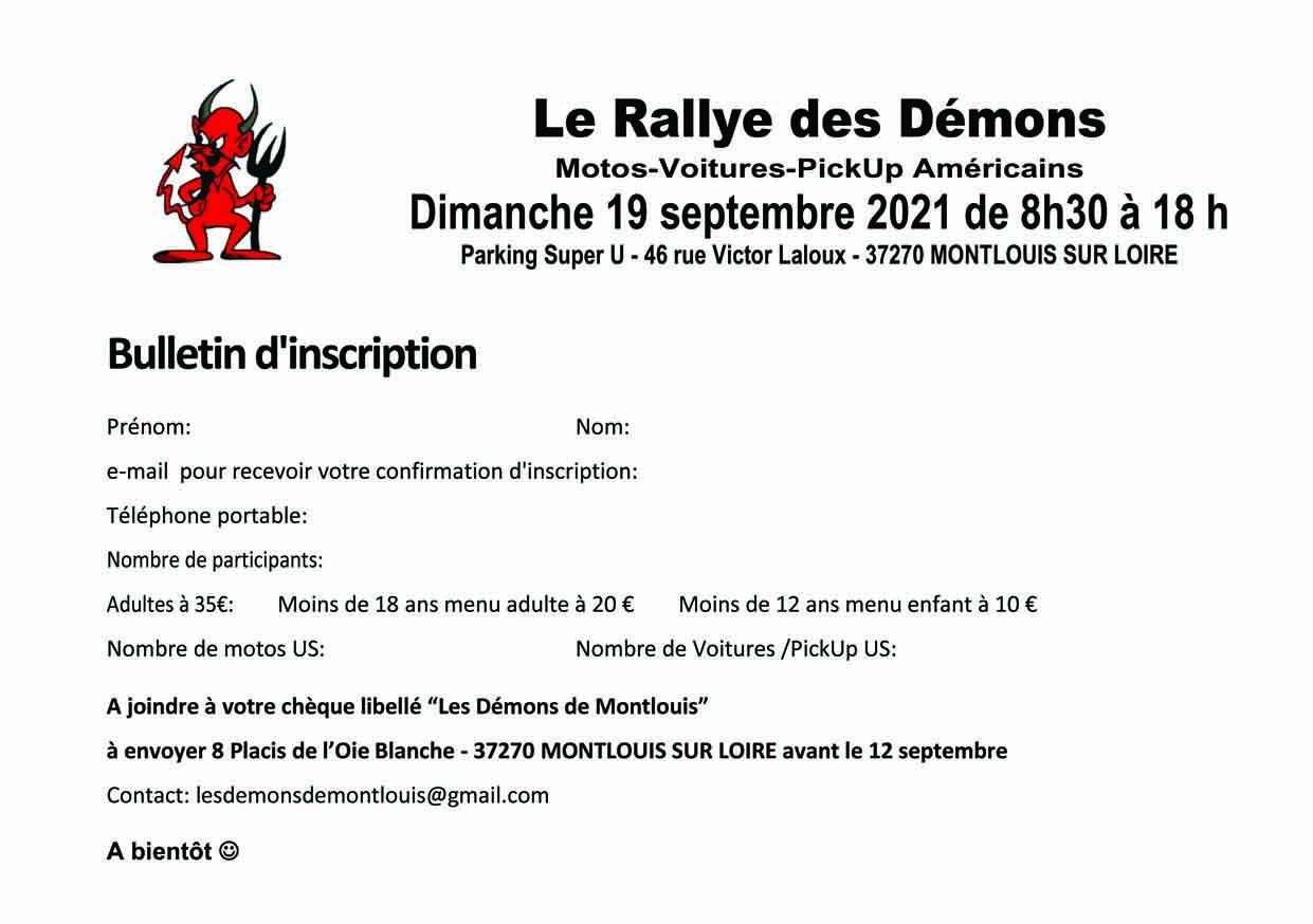 Rallye bulletin inscription sept 2021