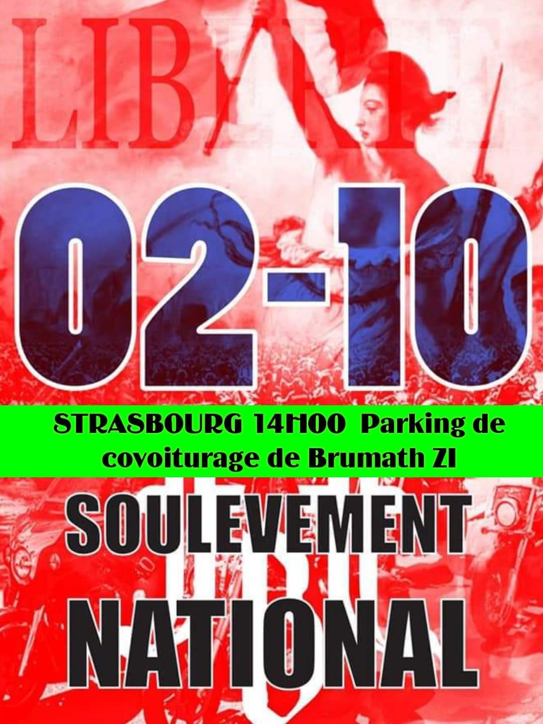 Soulevement national strasbourg