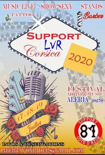 Support liberta vox riders MC Aleria 2021